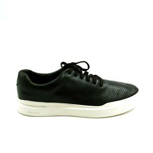 Cole Haan Mens Lace Up Sneaker Black Leather